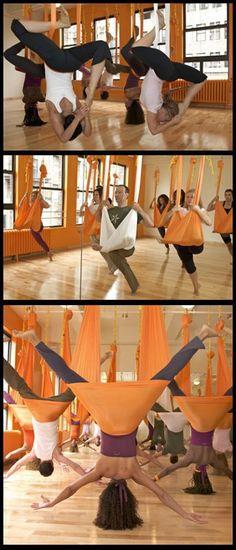 Anti-gravity yoga!  Can't wait to go tomorrow night!  :)