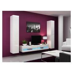 meuble tv en métal blanc l 118 cm - bruce | tvs and metals - Meubles Designe
