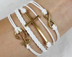 ancient gold braceletsarrow braceletcross by lifesunshine on Etsy, $6.99