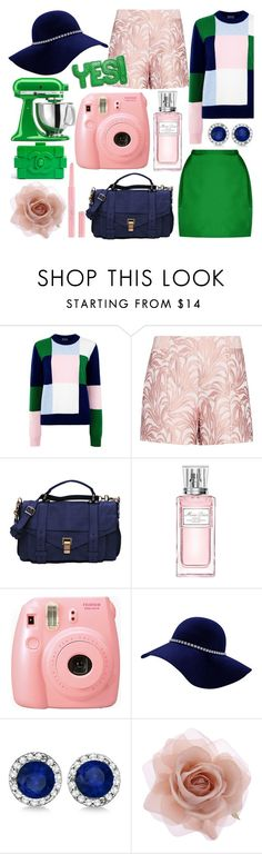 """""""Trio"""" by bklana ❤ liked on Polyvore featuring Markus Lupfer, Exclusive for Intermix, KitchenAid, Proenza Schouler, Christian Dior, Allurez and Accessorize"""