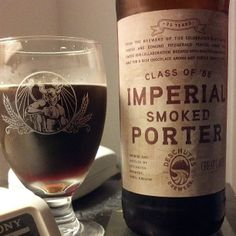 "We love the camaraderie in the craft beer world! From Stone: ""A little co-branding with a glass holding the contents of a bottle of Deschutes Imperial Smoked Porter."" #craftbeer #stonebrewing"