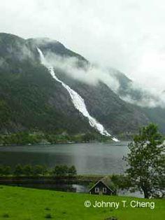 Langfoss waterfall in Norway