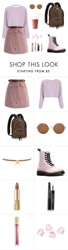 """""""KARMIN"""" by twyzter ❤ liked on Polyvore featuring Chicwish, Topshop, Sunday Somewhere, Chan Luu, Dr. Martens, Dolce&Gabbana, L'Oréal Paris, Max Factor and H&M"""