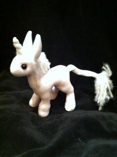 Mythfit Little Unicorn Plush by MythfitCreations on Etsy, $25.00