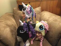 My little pony inspired crochet hats Crochet Pony, Crochet Hats, My Little Pony, Crochet Patterns, Crocheting, Character, Inspiration, Inspired, Knitting Hats