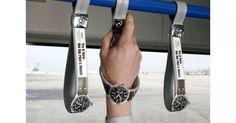 Pubblicità sui mezzi pubblicità virale di marketing orologi