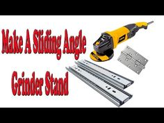 Make A Sliding Angle Grinder Stand Angle Grinder Stand, Diy Tools, Angles, Woodworking, Wood Work, Creative, Youtube, Workshop, Tools