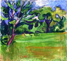 Landscape Edvard Munch - 1899