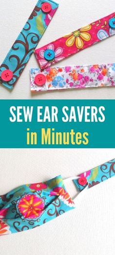 Learn how to sew ear savers in minutes with this easy sewing project. Ear savers protect your ears from getting chaffed and sore while wearing face masks for long hours. All you need is a fabric scrap and two buttons for this easy DIY sewing tutorial. #earsaverformasks #earsaverforfacemasks #earsaverformaskspattern #earsaverformedicalmasks #sewingproject #earsaverforsurgicalmasks