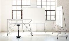 Working I Office I HPI I Design-Thinking I Creative I Team I DT-Line Table & DT-Line Whiteboard by System 180 DT- Line Table: B 160 x H 106 T 80 cm DT- Line Whiteboard: B 173 x H 190 T 64 cm