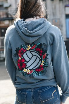 Bring some tropical vibes into your life with our vibrant design Kona! Shown on our pigment dyed sweatshirt, you're looking at one of our comfiest and trendiest designs yet! All No Dinx Volleyball apparel is unisex sizing unless otherwise stated. Volleyball Training, Sport Volleyball, Volleyball Shirt Designs, Volleyball Memes, Volleyball Outfits, Volleyball Workouts, Volleyball Pictures, Volleyball Players, Volleyball Hairstyles