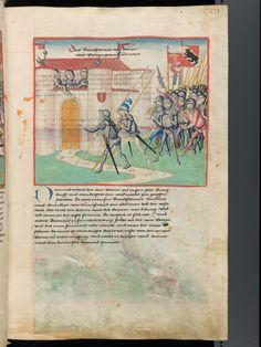 Bern, Burgerbibliothek, Mss.h.h.I.1, f. 225 – Diebold Schilling, Amtliche Berner Chronik, vol. 1
