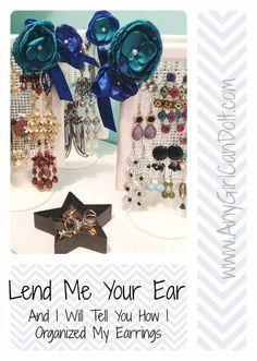 Cute, practical AND cheap earring organization