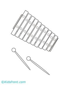 Xylophone Coloring Pages Printable