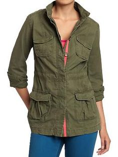 Women's Drawstring Military Jackets | Old Navy