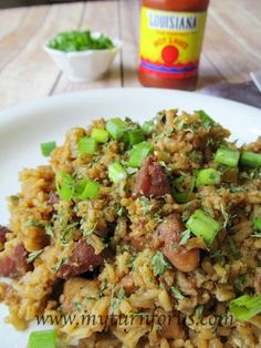 This Jambalaya is the real thing! Easy to make and feeds a crowd! http://www.myturnforus.com/2015/05/jambalaya.html