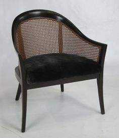 Pair of Mahogany Lounge Chairs by Harvey Probber at 1stdibs