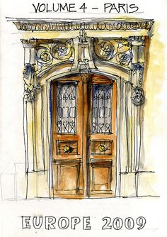 """My Paris Sketchbook"" From Flickr...by ""borromini bear"""
