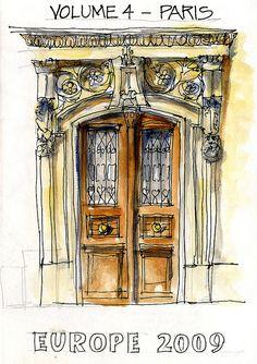 """My Paris Sketchbook"" From Flickr...by ""borromini bear"""