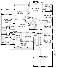 First Floor Plan of Traditional House Plan 67556 Perfect!!!!!!!!!! When can we start building!!!