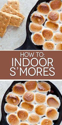 Indoor s'mores!