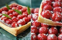 Tartlets with cherries.