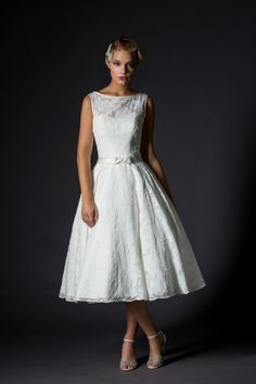 Rita Mae Tea Length Wedding Dress 1027
