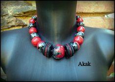 pierres rouges et noires
