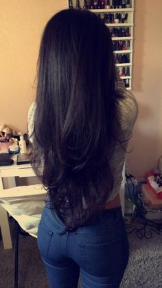 Long Black Hair with Layers - - Long Black Hair with Layers Hair Langes schwarzes Haar mit Schichten Wig Hairstyles, Straight Hairstyles, Long Hairstyles With Layers, Long Hair Haircuts, Black Hairstyles, Hair Styles Long Layers, Haircuts For Long Hair With Layers, Long Haircuts For Women, Fashion Hairstyles