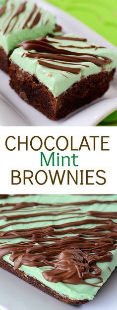 Chocolate Mint Brownies - This festive dessert recipe for St. Patrick's Day has it all - the classic look, taste, and the simplicity thanks to using a brownie mix.