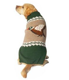 Chilly Dog Mallard Dog Sweater Medium