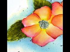 Video Tutorial by Francine Vuillème (www.1001cartes.ch) - Watercoloring