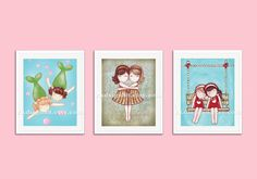 Baby girl nursery decor print childrens wall art by rkdsign88, $45.00