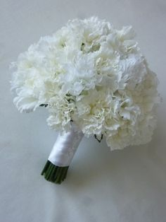 Carnation Bouquet but with pink ribbon