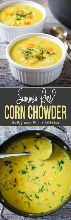 This Summer Corn Chowder soup is a healthy & delicious way to enjoy fresh sweet corns. Filling, creamy & a great comfort corn soup that you can enjoy any time of the year.