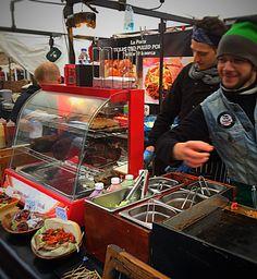 Texas Pulled Pork BBQ, Camden Market Street food, January 2015