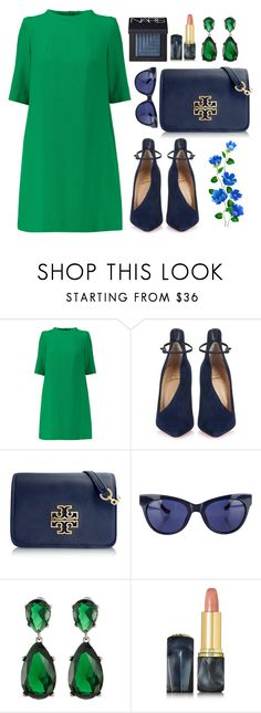 """""""Green and blue!"""" by bliznec ❤ liked on Polyvore featuring Goat, Christian Louboutin, Tory Burch, Linda Farrow, Kenneth Jay Lane, Oribe and NARS Cosmetics"""