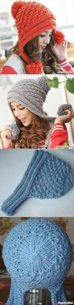 Knitted cap - Knit and Crochet - Awesome knitted and crocheted items and patterns. Loom Knitting, Knitting Stitches, Free Knitting, Knitting Patterns, Crochet Patterns, Bonnet Crochet, Knit Crochet, Crochet Hats, Knitting Projects