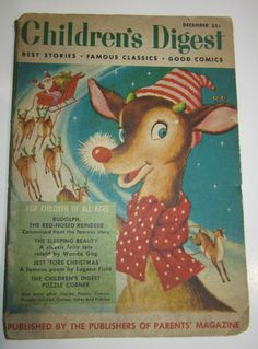 Vtg 1953 Childrens Digest Mag Rudolph Red Nosed Reindeer The Sleeping Beauty | eBay