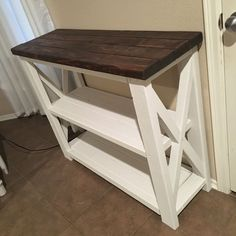 Rustic X Coffee Bar / Rustic X Farmhouse Coffee Bar / Mini Fridge Table / Dining Bar / Farmhouse Bar / Fridge Table / Mini Fridge Console DIY coffee bar table inspirations - the Diy Furniture Hacks, Home Decor Furniture, Diy Home Decor, Furniture Plans, Console Furniture, Furniture Websites, Inexpensive Furniture, Furniture Storage, Farmhouse Furniture
