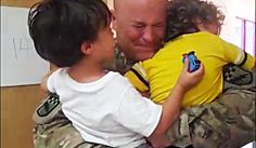 [VIDEO] A Soldier's Tearful Reunion With His Two Sons  |