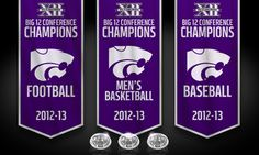 Welcome to Titletown! K-State is one of only 4 schools in the BCS era to win Football, Men's Basketball and Baseball conference titles in the same season.