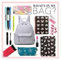"""What's in my bag?"" by liacarolina02 ❤ liked on Polyvore featuring Casetify, Vera Bradley, Tri-coastal Design, Hollister Co., ICE London, Paper Mate, Marc Jacobs, MAC Cosmetics, backpack and inmybackpack"