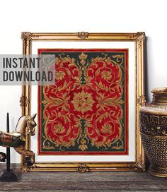 Printable Art Mosque Tile Design Print Traditional Turkish