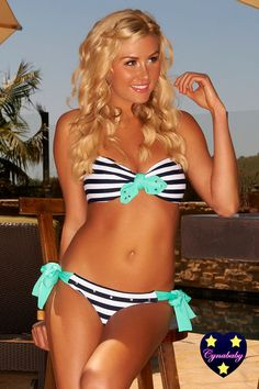 Scrunch Butt Bandeau  Seafoam Mint Sailor by CynababySwimwear, $162.00      When did bathing suits become so expensive?!?  :(