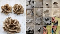DIY Project: How To Make Roses Using Toilet Tubes