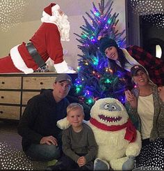 SOMEBODY got his very own Christmas tree in his room, and two VIP's showed up to celebrate... #Santa #Bumble #MyPeople  --  NASCAR drivers deck the halls for 2016 holidays | Photo Galleries | Nascar.com