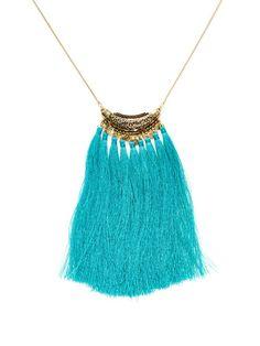 Detailed Textile Fringe Necklace by Sparkling Sage at Gilt