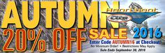 "Don't Miss the 20% Off Autumn Sale on Now! Coupon Code ""AUTUMN16"" at Checkout.   Order today to save 20% off all parts and accessories with the exception of any parts marked ""No further discount"".  The sale starts September 21th and ends September 30th at midnight.  PLEASE NOTE: We have designated many Non-discount parts in this sale. Specially priced parts marked in red require being ordered online to receive those prices."