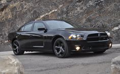 A factory all black edition of the Dodge Charger (2012)